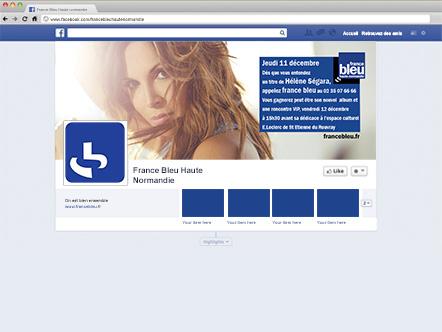 Habillage Facebook – France Bleu