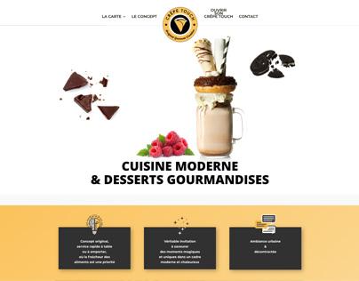 Création design et site web crêpe touch